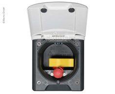 Reimo - Gassteckdose Magnet schwarz 130x145mm, Montage-DM 95mm