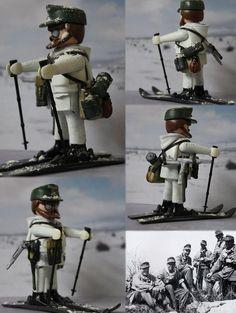 Custom Playmobil Soldado Alemán Unidad de Montaña Wehrmacht WWII / Mountain…