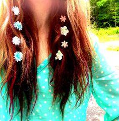Flower Hair Extension Clip. Suede Hair Tie. Boho. Hippy. Flowers. Hair. Hippy Flower Tie Hair Clip. on Etsy, $12.00