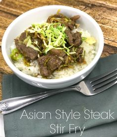 Here is an amazing Asian style steak stir fry marinated in grated pears, soy sauce and more. Marinate the steak overnight for extra deliciousness.