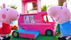 Мягкие игрушки! Кукольный домик и игрушки из мультфильмов про Свинку Пеп...