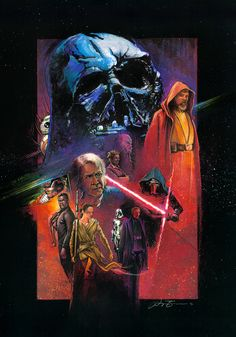 Art Awakens Contest: A tribute to the new film pulling inspiration from some of my favorite classic interpretations of Starwars: the original Marvel adaptation of Star Wars, the vibrance of Dark Empire and Noriyoshi Ohrai's redition of the Empire Strikes Back poster.