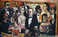 Party in Paris, 1947 by Max Beckmann. Expressionism. genre painting