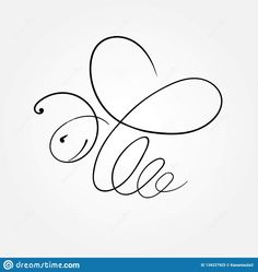 Bee Line. Illustration Of Line Flying Bee - Vector Illustration Stock Vector - Illustration of flying, isolated: 134227925 - - Cartoon Drawings, Art Drawings, Bee Rocks, Bumble Bee Tattoo, Bee Art, Bee Happy, Queen Bees, Doodle Art, Art Sketches