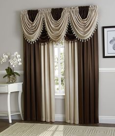 Drapes Curtains Window Treatments Curtain Ideas You Will Adore. Home and Family Living Room Decor Curtains, Bedroom Drapes, Home Curtains, Window Curtains, Window Cornices, Valances, Curtain Ideas For Living Room, Window Curtain Designs, Curtain Styles
