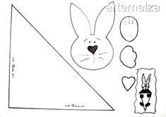 artemelza - coelho de páscoa Felt Diy, Felt Crafts, Easter Crafts, Homemade Dolls, Easter Pictures, Spring Crafts For Kids, Card Sketches, Easter Wreaths, Sewing Crafts