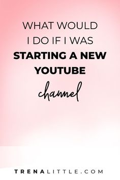 What would I do if I was just starting my YouTube channel? In today's video I'm going to walk through a couple of the most important steps I would take if starting a YouTube channel so you too can learn how to start a YouTube channel in 2019 and actually see results! #youtubetips #videomarketing