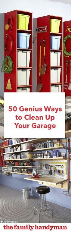 50 Genius Ways to Clean Up Your Garage