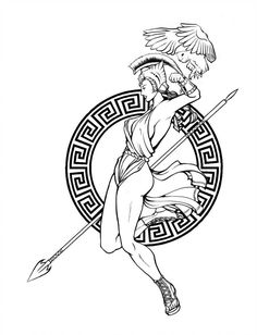Athena Tattoo by project-melee.dev… on Athena Tattoo by project-melee. Greek Goddess Tattoo, Greek God Tattoo, Greek Mythology Tattoos, Roman Mythology, Norse Mythology, Neue Tattoos, Body Art Tattoos, Small Tattoos, Sleeve Tattoos