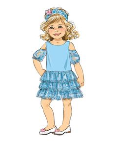 Whether you're going to a special event or playing dress up, this pattern is perfect for your little princess David Tutera Designer Pattern - Children's/Girls' Bolero and Dresses Girls Winter Fashion, Little Girl Fashion, Little Girl Dresses, Kids Fashion, Cutting Edge Stencils, Toddler Girl Outfits, Kids Outfits, Kids Clothing Brands, Clothing Photography