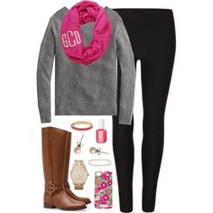 """Monogrammed"" by classically-preppy on Polyvore"