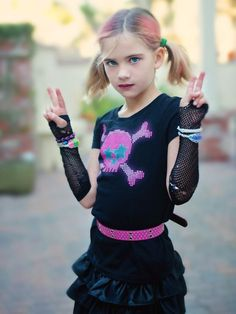25 Kid's Halloween Costumes from the Thrift Store:  Punk Rocker