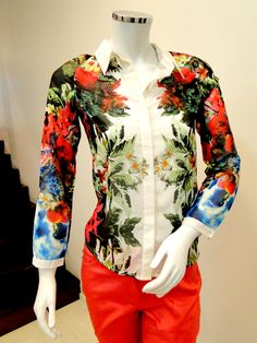 blusas estampadas e transparentes