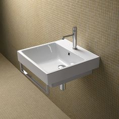 Washbasin for wall-hung, semi inset, inset or sit on installation. Front chrome brass towel-rail available. Zero 60 washbasin is also available with black finish. Contemporary Bathrooms, Contemporary Style, Chrome Towel Rail, Italian Bathroom, Single Sink, Outlet, Countertops, Zero, Home Decor