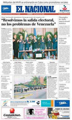 Firma del acuerdo de mesa de negociación entre la Coordinadora Democrática y el gobierno con la ayuda de Gaviria, para buscar la salida electoral. Publicado el 30 de mayo de 2003.