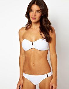 River Island Dakota Zip Bandeau Bikini Top