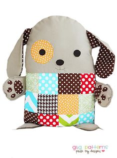 Love this patch work puppy - simple to make your own pattern for