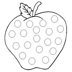 Early Childhood Activities, Do A Dot, Islam For Kids, Apple Art, Apple Theme, Printable Crafts, Preschool Art, Dot Painting, Colouring Pages