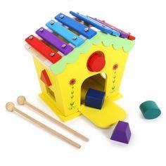 Small Foot Drevený domček vkladačka a xylofón Musical Toys, Toy Craft, Wood Toys, Bunt, Montessori, Activities, Outdoor Decor, Gifts, House