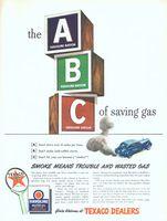 Texaco ABC's of Saving Gas 1943 Ad Picture