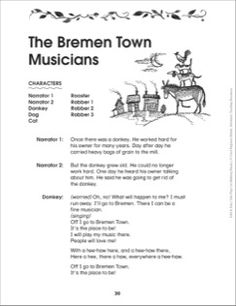 The Bremen Town Musicians: Folktale Play