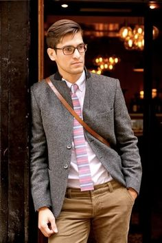 mens fashion, glasses, jacket, tie, fashion