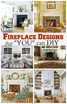 Top 8 Fireplace Mantle Ideas that finally convinced my dad to help me update our outdated 1970's stone fireplace @Mandy Dewey Generations One Roof