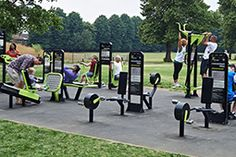 The Great Outdoor Gym Company Outdoor Gym, Outdoor Workouts, Fitness Centers, Bright Lights, Container, Landscape, City, Health, Scenery