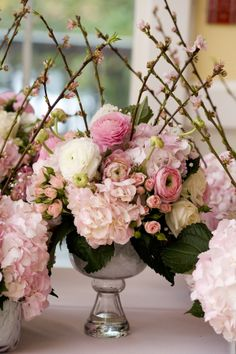 Pink and perfect.  reception wedding flowers,  wedding decor, wedding flower centerpiece, wedding flower arrangement, add pic source on comment and we will update it. www.myfloweraffair.com can create this beautiful wedding flower look.