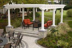 Beautiful Backyard! Landscape Design, Hardscape, Poolscape, Fencing. Gazebo, Pergola, Fencing, Design Projects, Landscape Design, Backyard, Outdoor Structures, Beautiful, Kiosk