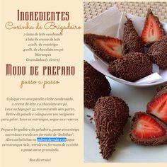 bombom de morango com brigadeiro do Chef Kadu Barros