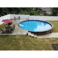 Having a pool sounds awesome especially if you are working with the best backyard pool landscaping ideas there is. How you design a proper backyard with a pool matters. Semi Inground Pools, Small Inground Pool, Swimming Pools Backyard, Pool Spa, Above Ground Pool Inground, Intex Pool, Diy Pool, Above Ground Swimming Pools, Above Ground Pool Landscaping