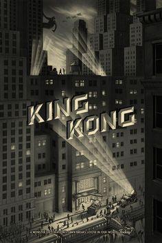 "King Kong (City) by Jonathan Burton 24""x36"" Screen Print, Edition of 325 Printed by D&L Screenprinting $50"