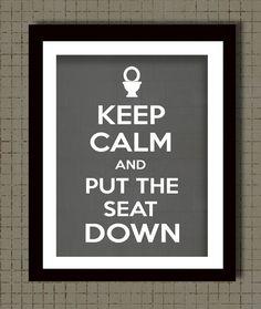 Bathroom Wall Decor Keep Calm Print Bathroom Rules by Woofworld, $25.00
