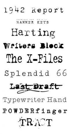 Free Typewriter Fonts / DFM