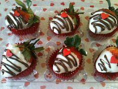 Fresas con chocolate San Valentín Día del amor y amistad