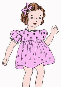 FREE doll dress, slip and panties patterns!