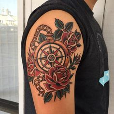 Trendy travel tattoo traditional compass rose – # - Famous Last Words Tattoos 3d, Tattoo Henna, Neue Tattoos, Great Tattoos, Trendy Tattoos, Tattoos For Guys, Sleeve Tattoos, Awesome Tattoos, Traditional Compass Tattoo