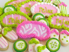 Spa Party Mini Sugar Cookies- 3 dozen via ACookieJar on Etsy.