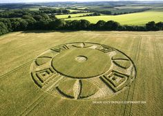 Crop Circle at Ox Drove, Nr Wylye Wiltshire. Reported 16th June. 2016