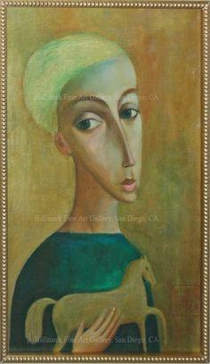 Sergey Smirnov Original Oil -Boy With A Horse