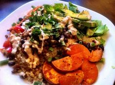 Burrito Bowls and Chili Lime Dressing // The Cozy Vegan