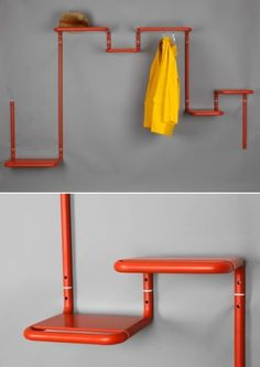 ... not sure I would want to have to colour coordinate all my junk with the shelf... but still cool