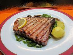 ... à minha moda!: Bife de Atum Grelhado c/ Legumes Salteados