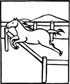 New Horse Jumping Coloring Pages 43 free animals horse printable