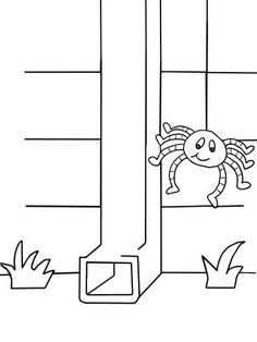 Itsy Bitsy Spider Coloring Page From Category Select 24104 Printable Crafts