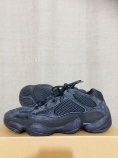 premium selection 4b792 a078a adidas Yeezy 500 Utility Black Desert Rat Sneakers - UK 11 US 11.5 with  receipt Yeezy