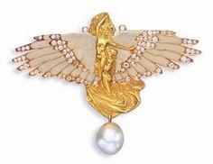 Lalique symbolist angel