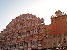 Inde, Jaipur - Le Palais des Vents (ou Hawa Mahal).