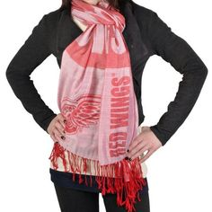 NHL Detroit Red Wings Pashmina Fashion Scarf by Forever Collectibles. $24.95. Team pashmina scarf